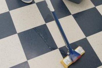 damp mop donu0027t soak to help a sealed vinyl tile floor look - Peel And Stick Flooring