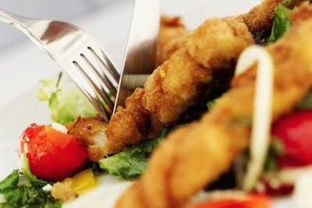 Oven-fried fish can contain less than half the calories of fish fried in oil.