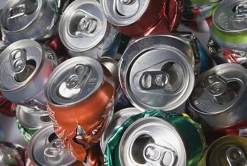More than half of aluminum cans are recycled each year.