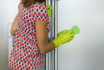 Maintain your refrigerator's exterior by cleaning spots as soon as possible.