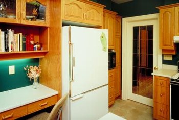 Use hardwood to give your refrigerator a built-in look.
