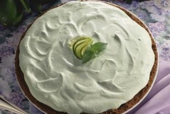 Key limes are the keystone ingredient of key lime pies.