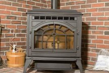 A wood pellet stove is more efficient than a conventional wood stove.