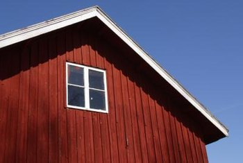 Board and batten siding has an old-fashioned quality.