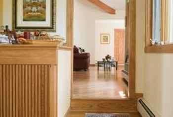 Hot air from baseboard heaters rises throughout the room.