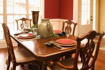 Extendable dining tables can have as many as four additional leaves to accommodate extra guests.