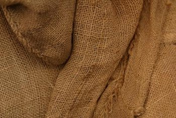 Burlap is an ideal fabric for protecting plants.