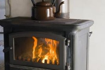 Wood-burning stoves look great in rustic or colonial-furnished homes.