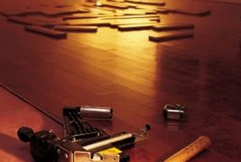 Laying a vapor barrier during installation prevents hardwood flooring from curling.