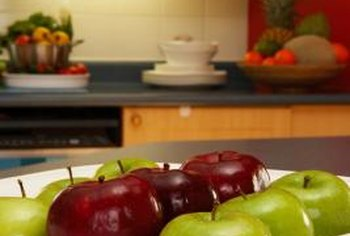 Red And Green Complement Each Other In The Kitchen And The Color Palette.
