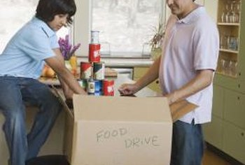 When donating food for a food drive, make sure items are nutritious and nonperishable.