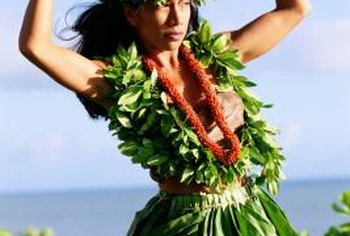 "Ti plant leaves are used to fashion the traditional Hawaiian ""grass"" skirts."