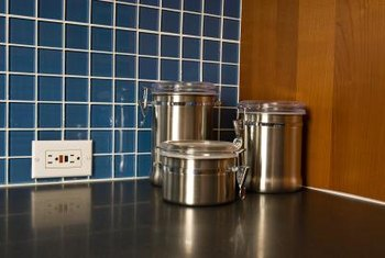 Hot pots and pans can damage laminate countertops.