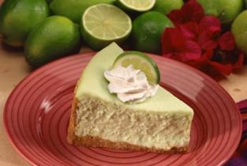 Key lime pie is a classic use of lime fruit.