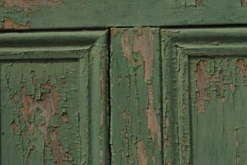 Milk paint mimics the chipping and crazing of authentically aged finishes.