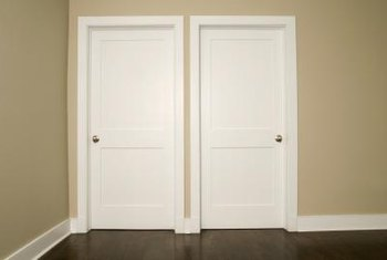 Installing 1x4 interior trim around a door can provide a simple but distinctive look to the doorway.
