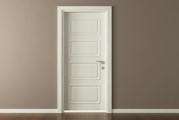 White is one of the safest colors for interior doors.