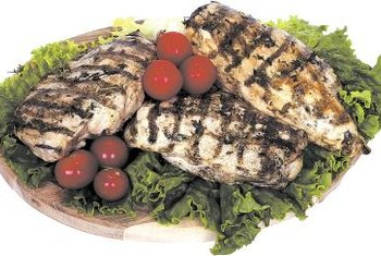 Protein-rich foods, such as grilled chicken breast, nourish your muscles.