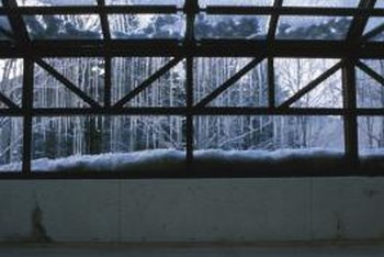 Propane heaters keep a greenhouse warm even when it's cold outside.