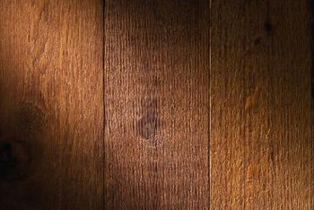 Wood floors can be glued down with a variety of adhesives.
