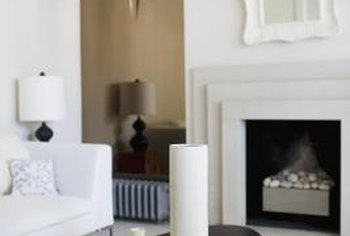 A mirror should be centered over the fireplace and not extend past the edge of the mantel shelf.