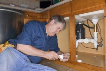 Shutoff valves are often located under sink cabinets.