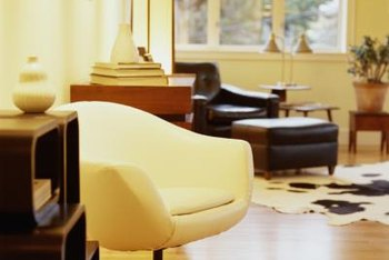 Walls and furnishings in warm, yellow-based colors help warm up a room's look.