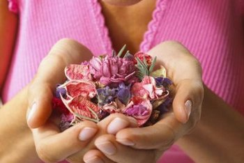 Add a few dried flower petals, such as lavender, to make scented paper.