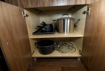 Pull-out shelves provide better access.