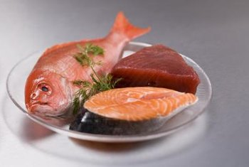 Fish are healthy sources of polyunsaturated fats.