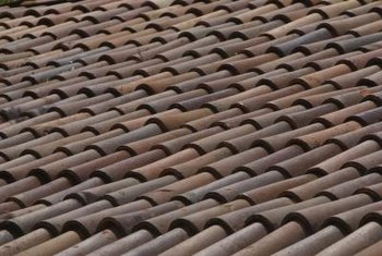 Clay roof tiles come in many shapes, sizes and colors.