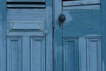 Old doors have distinctive colors and character that make them good candidates for repurposing.