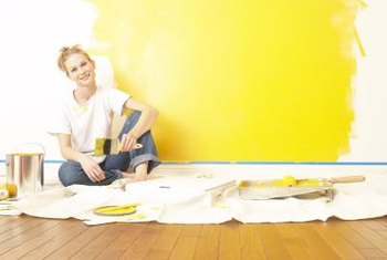 Don't paint in sections to avoid uneven satin paint.