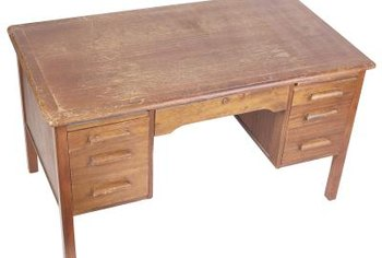 Breathe life into an old desk with penetrating oil.
