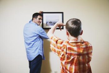Keeping pictures straight begins when you hang them.