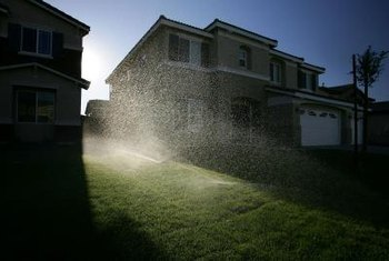 Sprinkler controllers let you set a schedule to keep your lawn green.