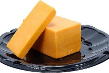 A small portion of cheese is a good source of protein and calcium.