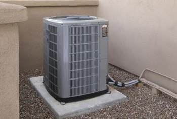 The efficiency of a central air conditioner is determined by its SEER rating.