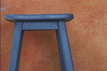 Paint provides a nearly instant update on a wood stool.