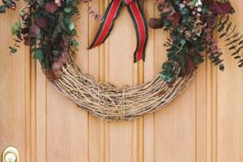 A disassembled twig or vine wreath provides supplies for a natural valance.