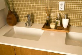 Glass tiles are perfect for wet area installations because they are waterproof.
