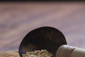 Sesame seeds are exceptionally rich in oil.