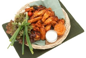 Grilled or baked wings can be a tasty, healthful menu option.