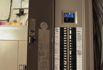 Electric service panels distribute electricity throughout the home.