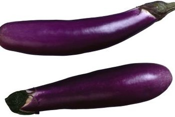 Fingerling eggplants are colorful and delicious.