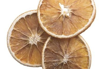 Oven-dried citrus slices can be used to make your own potpourri blends.