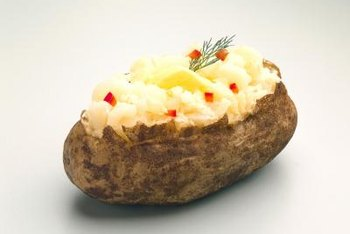 Microwaving a baked potato will not reduce its potassium content.