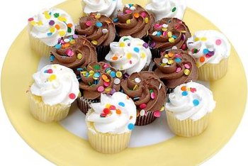 Cupcakes almost always have large amounts of sugar and saturated fat.