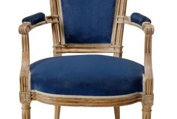 Is it velvet or easy-clean microfiber? Use new synthetics on old chairs.
