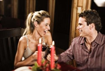 Use candles on the table to create a romantic atmosphere.
